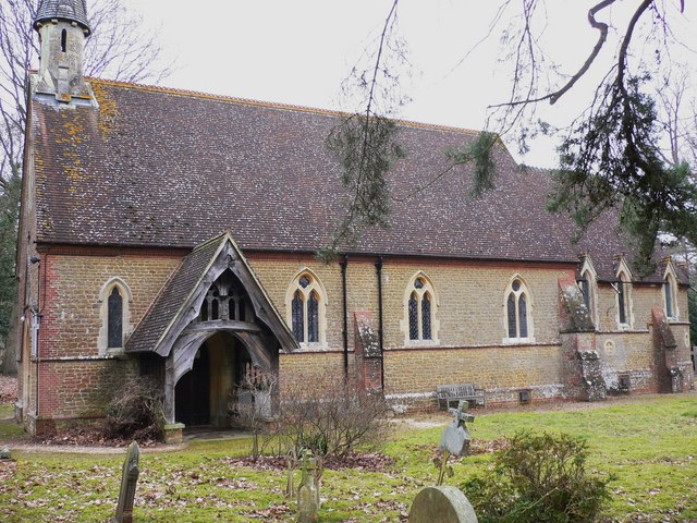 Grafham church southern elevation with porch