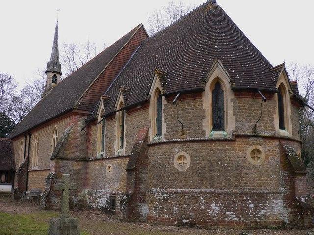 The apse of Grafham church