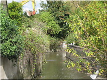 TQ3772 : The River Ravensbourne west of Bromley Road Retail Park, SE6 (4) by Mike Quinn