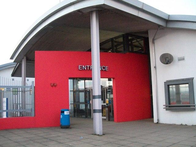 Foot passenger entrance to the Sealink Terminal at Dublin Port