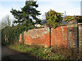 TG2708 : Brick wall alongside Griffin Lane, Thorpe St Andrew by Evelyn Simak