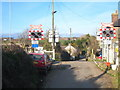 SW8460 : Level crossing in the hamlet of Chapel by Rod Allday