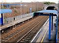 J3574 : Passenger shelters, Bridge End station, Belfast (1) by Albert Bridge