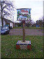 TM3289 : Earsham Village Sign by Adrian Cable