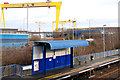 J3574 : Passenger shelters, Bridge End station, Belfast (2) by Albert Bridge