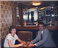 SJ7662 : Bar of the Saxon Cross Motel by Stephen Craven