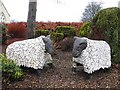 H5892 : Sheep sculptures, Cranagh by Kenneth  Allen