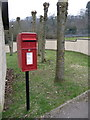 SY3593 : Charmouth: postbox № DT6 50, Wood Farm Campsite by Chris Downer
