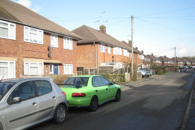 Grange Road, Bearley, with green car