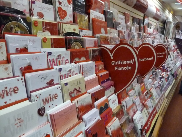 Tiverton : Clinton Cards - Valentine's Day Cards