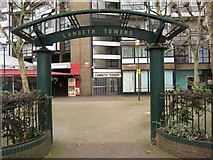 TQ3179 : Entrance to Lambeth Towers by Philip Halling