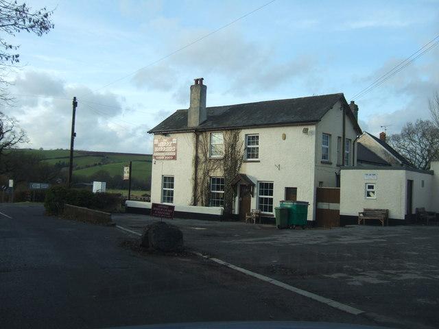 The Merry Harriers inn at Westcott