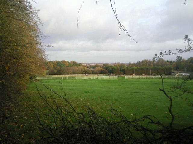 Kemnal Manor Stables from Belmont Lane