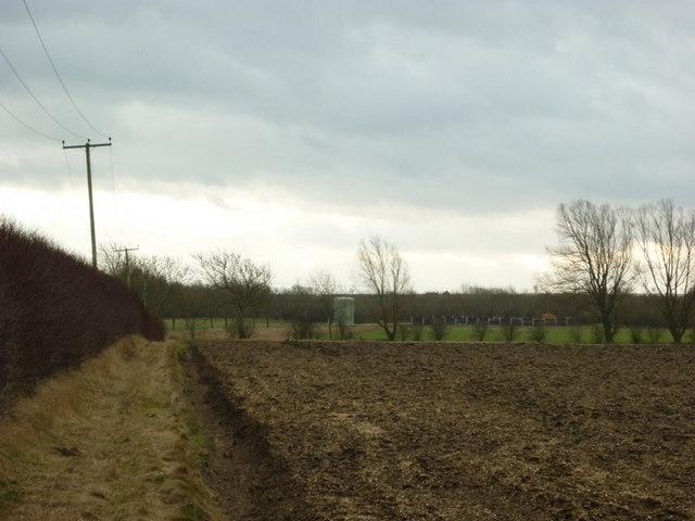 Looking south across the fields near Southburn