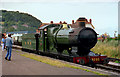 SS9746 : Steam locomotive at Minehead Station, Somerset by Roger  Kidd