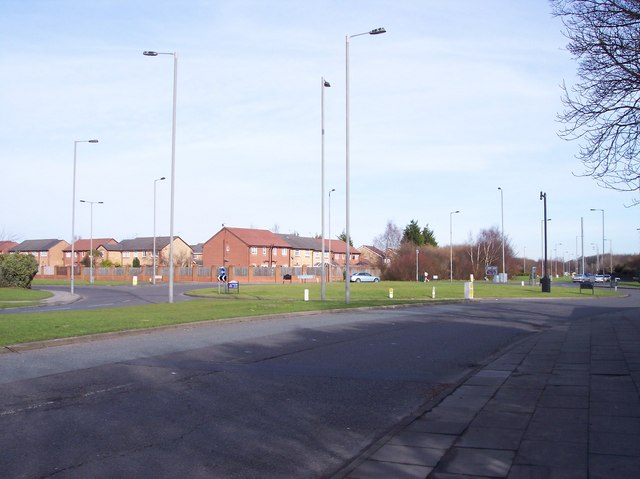 Muirhead Avenue East roundabout at entrance to croxteth Park