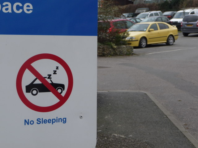 Beer: no sleeping in the car park