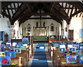 TG0329 : St George's church in Hindolveston - view east by Evelyn Simak