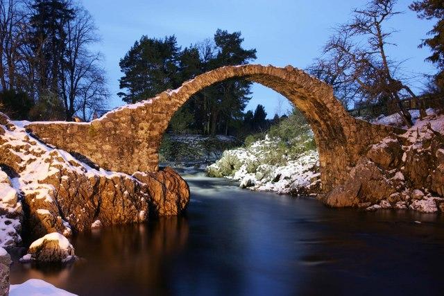 The old Pack horse bridge, Carrbridge.