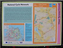 H4573 : National Cycle Network information board, Omagh by Kenneth  Allen