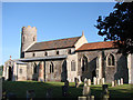 TG1633 : Wickmere St Andrew's church by Adrian S Pye