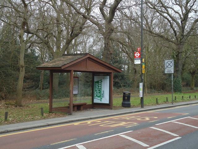 Bus stop, Wimbledon Common