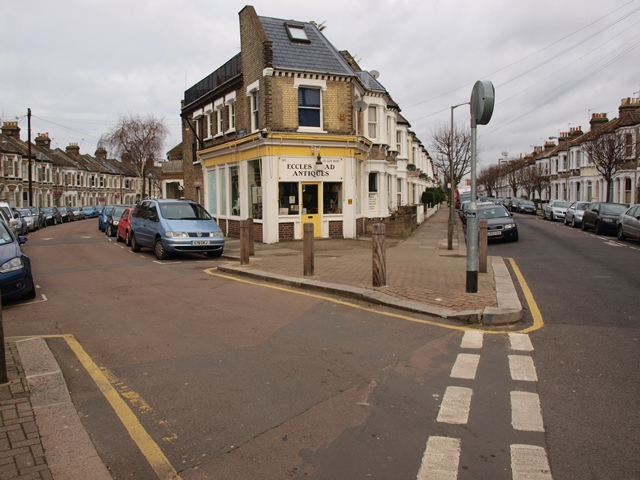 The southern junction of Parma Crescent with Eccles Road in Battersea