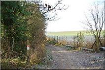 TQ8554 : Waymark, North Downs Way by N Chadwick