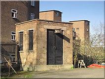 TQ3075 : Clapham North deep shelter (north), Clapham Road, SW4 - ventilation shaft by Mike Quinn