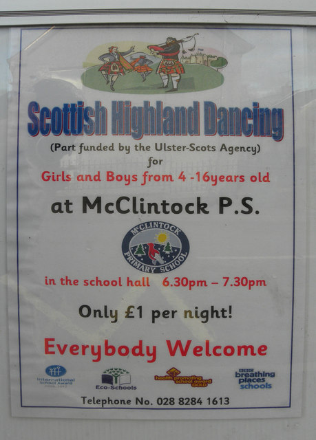 Scottish Highland Dancing notice