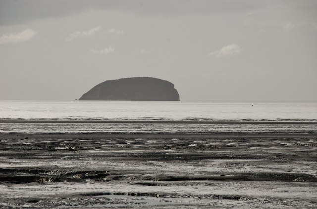 Steep Holm seen from Weston-Super-Mare