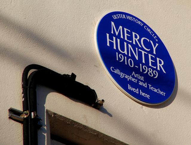 Mercy Hunter plaque, Belfast