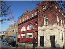 TQ2779 : The (former) Brompton Road tube station, Brompton Road / Cottage Place, SW3 by Mike Quinn
