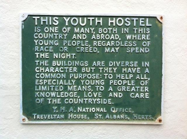 Plaque, Former Youth Hostel, Castle Hedingham