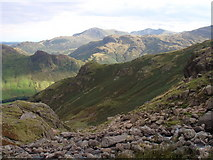 NY2807 : View from Stickle Tarn by Sally