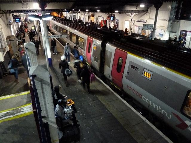 Cheltenham Spa Station on a Sunday evening