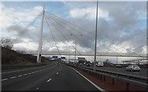 SJ8092 : Suspension Bridge to Sale Water Park by Anthony Parkes
