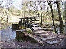 SD7217 : Footbridge over Broadhead Brook by Raymond Knapman