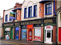 J4569 : Former Macdonald's shop, Comber (1) by Albert Bridge