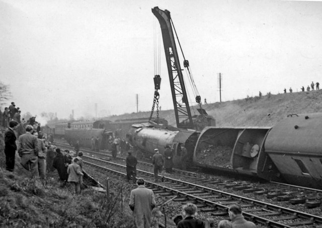 After a bad collision on the ECML south of Welwyn Garden City
