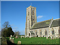 TG2536 : St James' church in Southrepps by Evelyn Simak