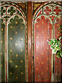 TG2536 : St James' church in Southrepps - screen (detail) by Evelyn Simak