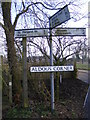 TM3681 : Aldous Corner Roadsign by Adrian Cable