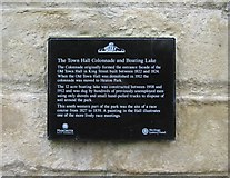SD8303 : Former Town Hall Colonnade (2) - plaque, Heaton Park by P L Chadwick
