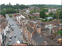 SO7875 : Load Street Bewdley from St. Anne's Tower by Robert Limbrick