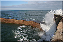 NJ4868 : Breakwater by Anne Burgess
