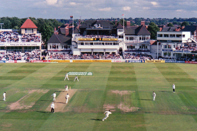 Trent Bridge Cricket Ground: the first day of the 1998 Test Match