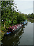 SP0272 : Private moorings at Alvechurch, Worcestershire by Roger  Kidd