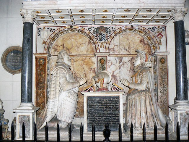 Memorial to Sir Henry and Lady Anne Poole, St Kenelm's Church, Sapperton