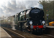 TQ2151 : 'Clan Line' at Betchworth, Surrey by Peter Trimming